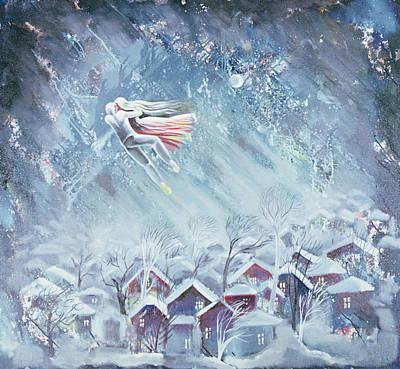 Blue Dream, 1983 Oil On Canvas Poster by Radi Nedelchev