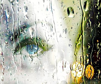 Blue Eyes Crying In The Rain Poster by Barbara Chichester