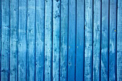 Blue Fence Poster by Tom Gowanlock
