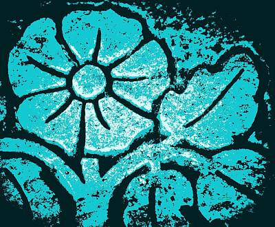 Blue Flower Poster by Chris Berry