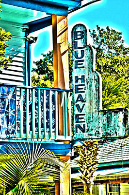 Blue Heaven In Key West - 1 Poster by Susanne Van Hulst