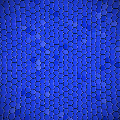 Blue Hexagonal Texture Background Poster by Valentino Visentini