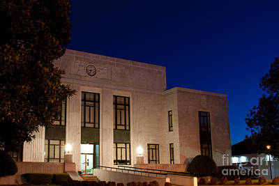 Blue Hour Mitchell County Courthouse Poster by Ben Sellars