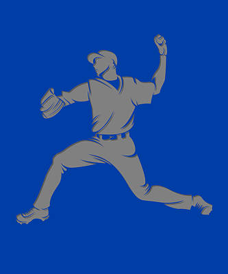 Blue Jays Shadow Player1 Poster by Joe Hamilton