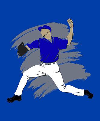 Blue Jays Shadow Player3 Poster by Joe Hamilton