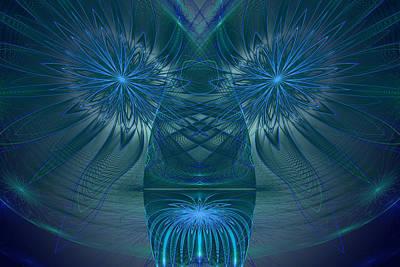 Blue Julian Vase Poster by Phil Clark