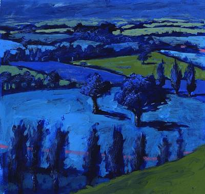 Blue Landscape Poster by Paul Powis