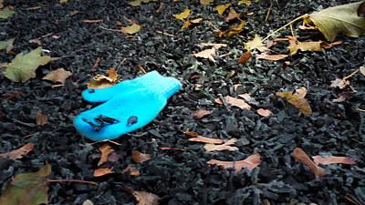 Blue Mitten Poster by Tom Gort