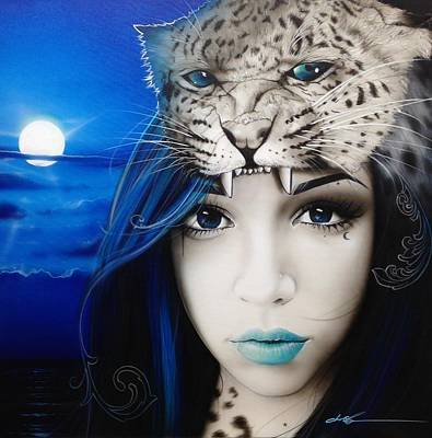 Portrait - ' Blue Moon ' Poster by Christian Chapman Art