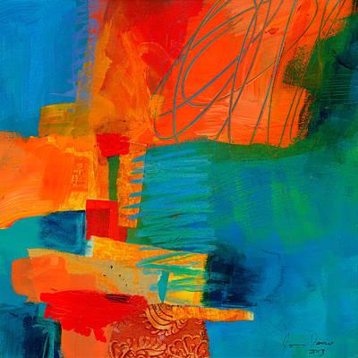 Blue Orange 2 Poster by Jane Davies