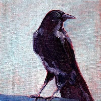 Blue Raven Poster by Nancy Merkle