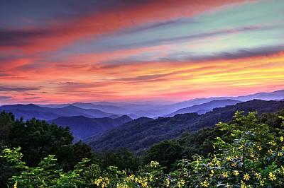 Blue Ridge Mountain Color Poster by Carol R Montoya