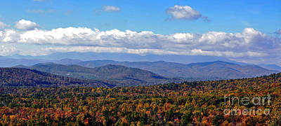 Blue Ridge Mountains 2 Poster by Lydia Holly