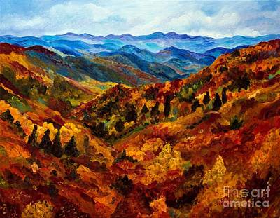 Blue Ridge Mountains In Fall II Poster by Julie Brugh Riffey