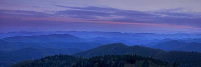 Blue Ridge Panorama At Dusk Poster by Andrew Soundarajan