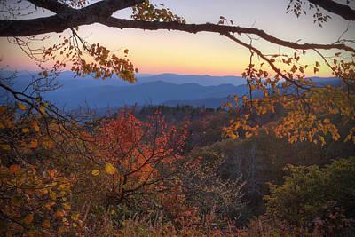 Blue Ridge Sunset Poster by Jaki Miller