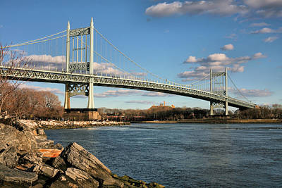 Blue Skies Over The Triboro Poster by JC Findley