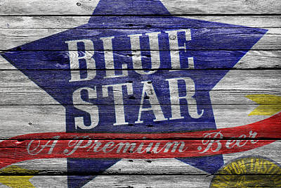 Blue Star Poster by Joe Hamilton