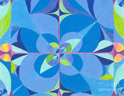 Blue Unity Poster by Kim Sy Ok