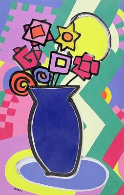 Blue Vase Poster by Bodel Rikys