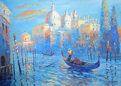 Blue Venice Poster by Dmitry Spiros