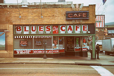 Blues City Cafe On Beale Street Memphis Poster by Mary Lee Dereske