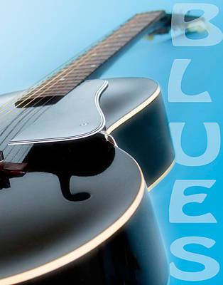 Blues Guitar Poster by David and Carol Kelly