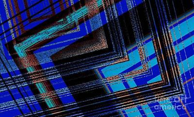 Bluish Geometric Design Poster by Mario Perez