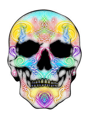 Blurred  Skull Poster by Mauro Celotti