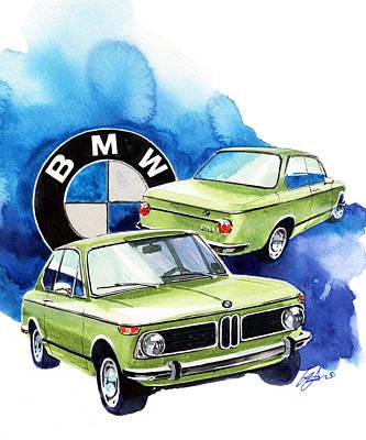 Bmw 1600-2 Poster by Yoshiharu Miyakawa