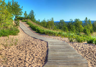 Boardwalk Through The Dunes Poster by Twenty Two North Photography