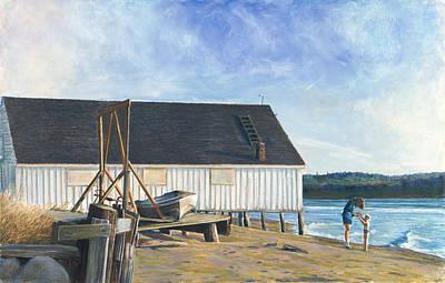 Boathouse At Lisabuela Beach Poster by Nick Payne
