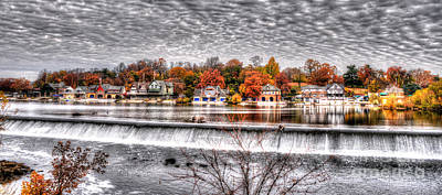 Boathouse Row Under The Clouds Poster by Mark Ayzenberg