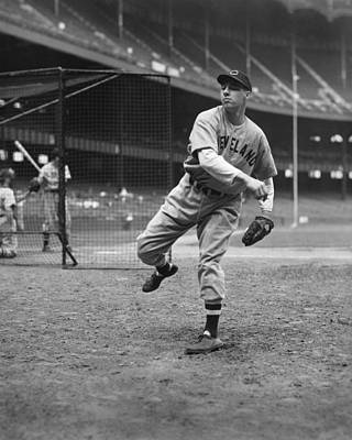 Bob Feller Pitching In Warm Up Poster by Retro Images Archive