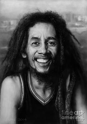 Bob Marley Poster by Andre Koekemoer