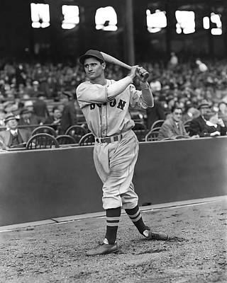 Bobby Doerr Warm Up Swing Poster by Retro Images Archive