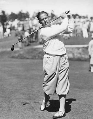 Bobby Jones At Pebble Beach Poster by Underwood Archives