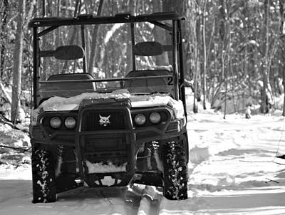 Bobcat Atv In Winter Poster by Dan Sproul