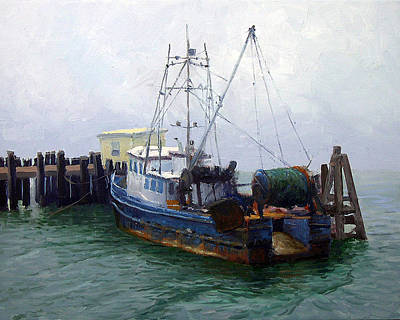 Bodega Trawler Poster by Armand Cabrera
