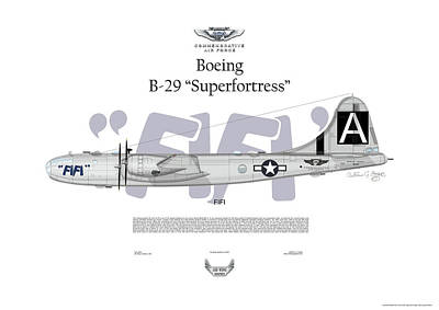Boeing B-29 Superfortress Fifi Poster by Arthur Eggers