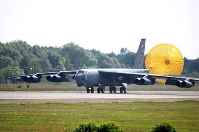 Boeing B-52 Landing In Moscow Poster by Science Photo Library