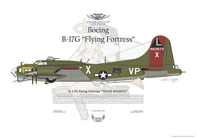 Boeing B17g Flying Fortress Poster by Arthur Eggers