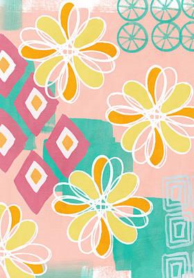 Boho Floral Garden Poster by Linda Woods