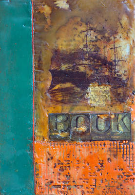 Book Cover Encaustic Poster by Bellesouth Studio