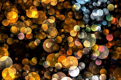Bokeh Modern Decorative Design I Poster by Georgiana Romanovna