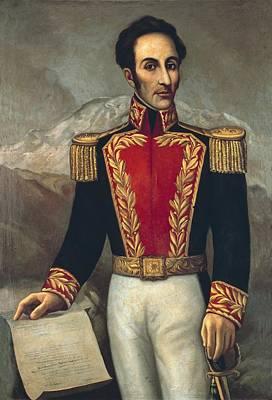 Bolivar, Sim�n 1783-1830. Venezuelan Poster by Everett