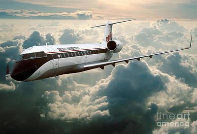 Bombardier-canadair Regional Jet Crj Poster by Wernher Krutein