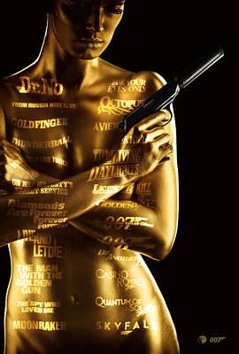 Bond 50 Poster by Patrick Charbonneau