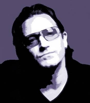 Bono Portrait Poster by Dan Sproul