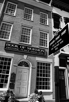 Book Of Mormon Print Shop - Infrared Print Poster by Stephen Stookey